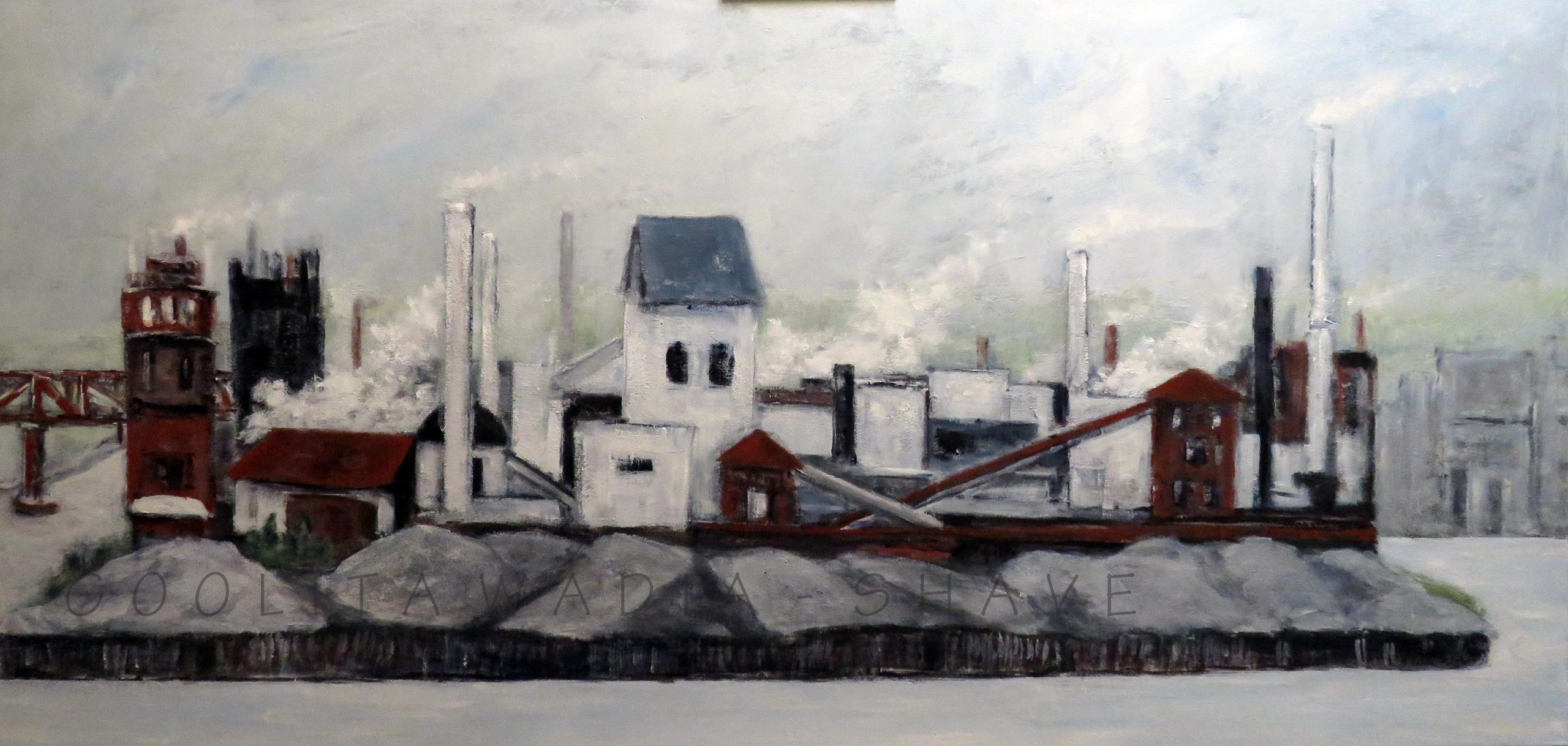 "On the Way to Niagara - 24"" x 48"" Acrylic on Canvas. $1500"