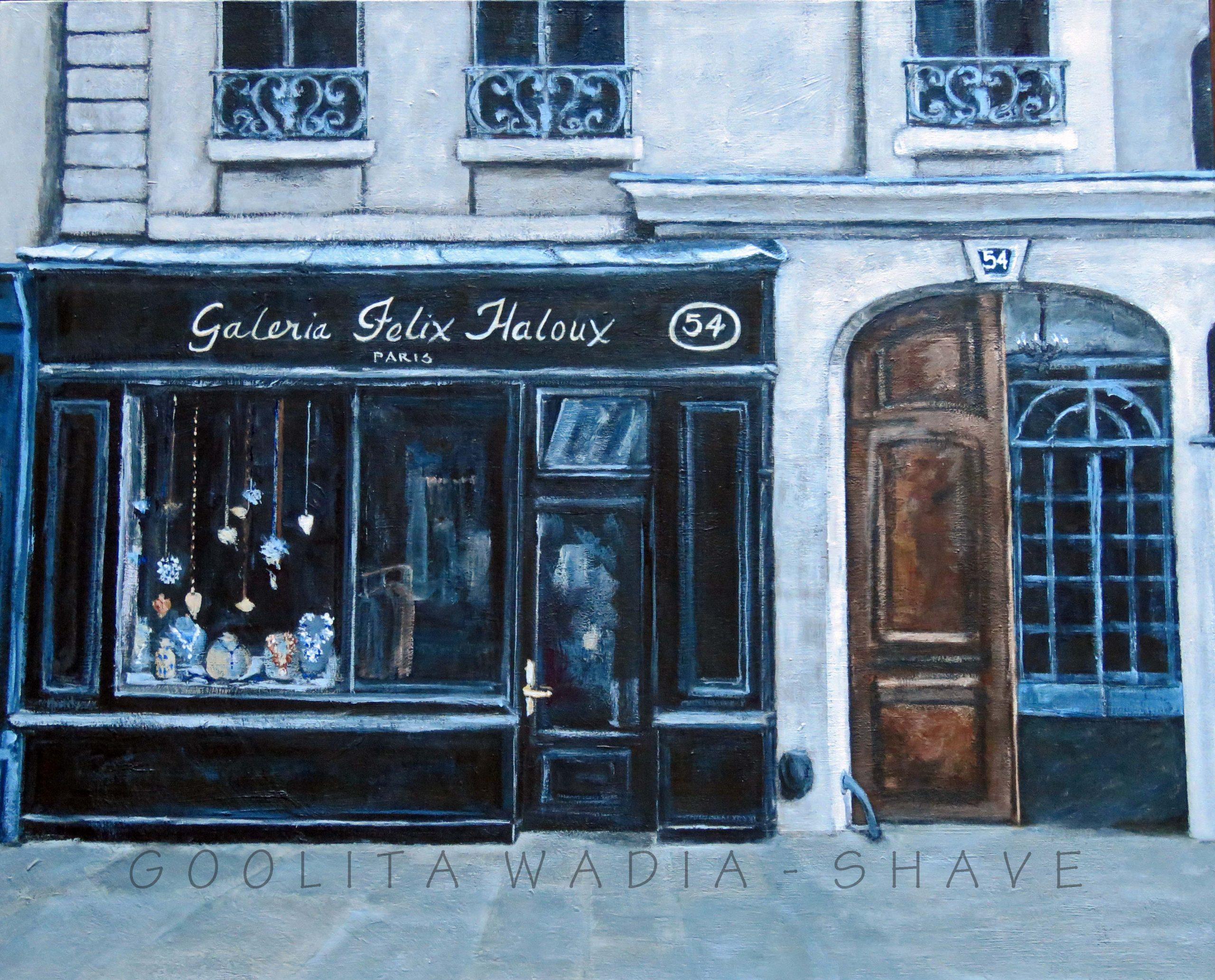 """Paris Charm - 24"""" x 30"""" Acrylic on Canvas."""
