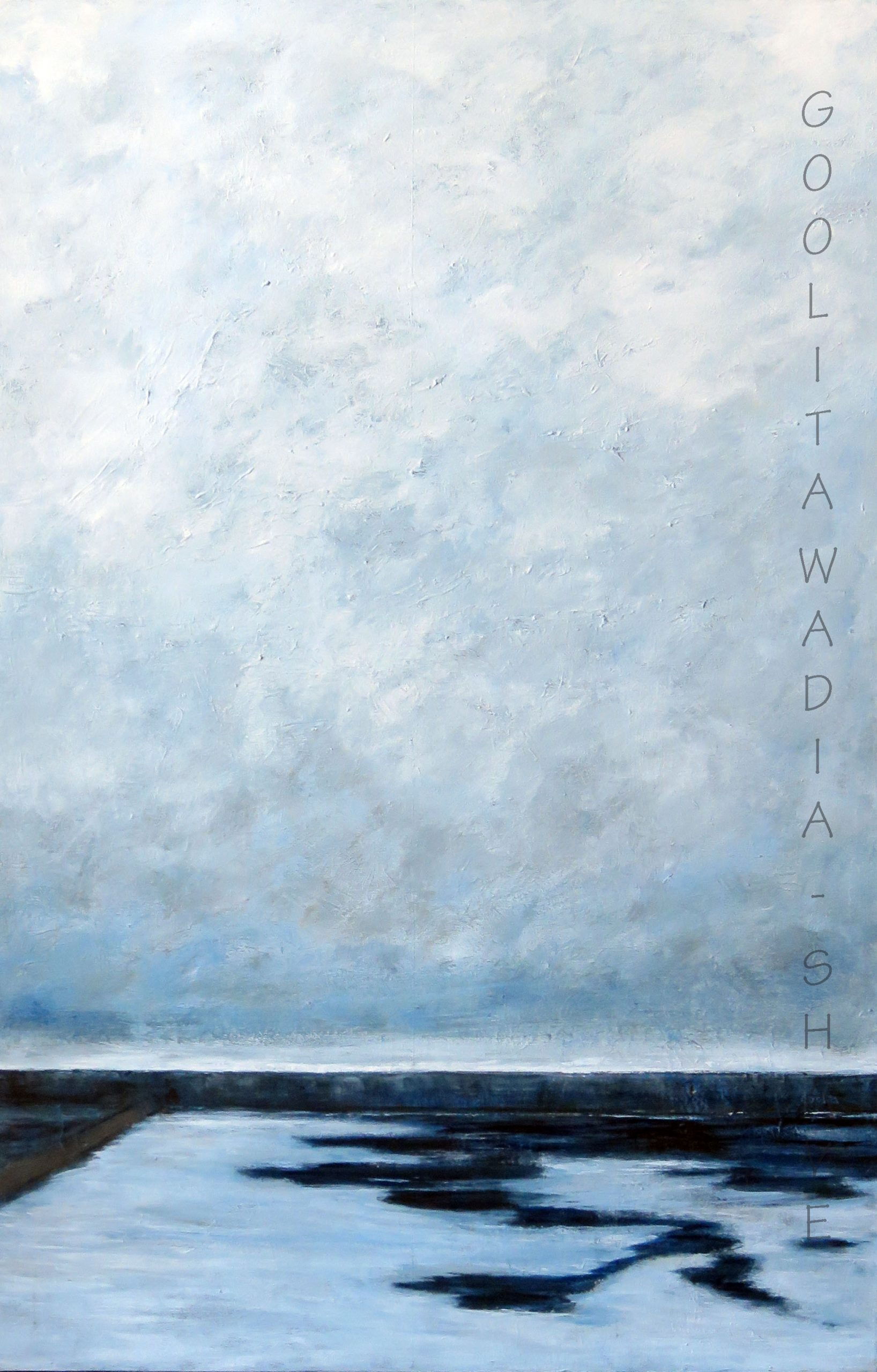 """Clouds - 36"""" x 24"""" Acrylic on Canvas. $750"""
