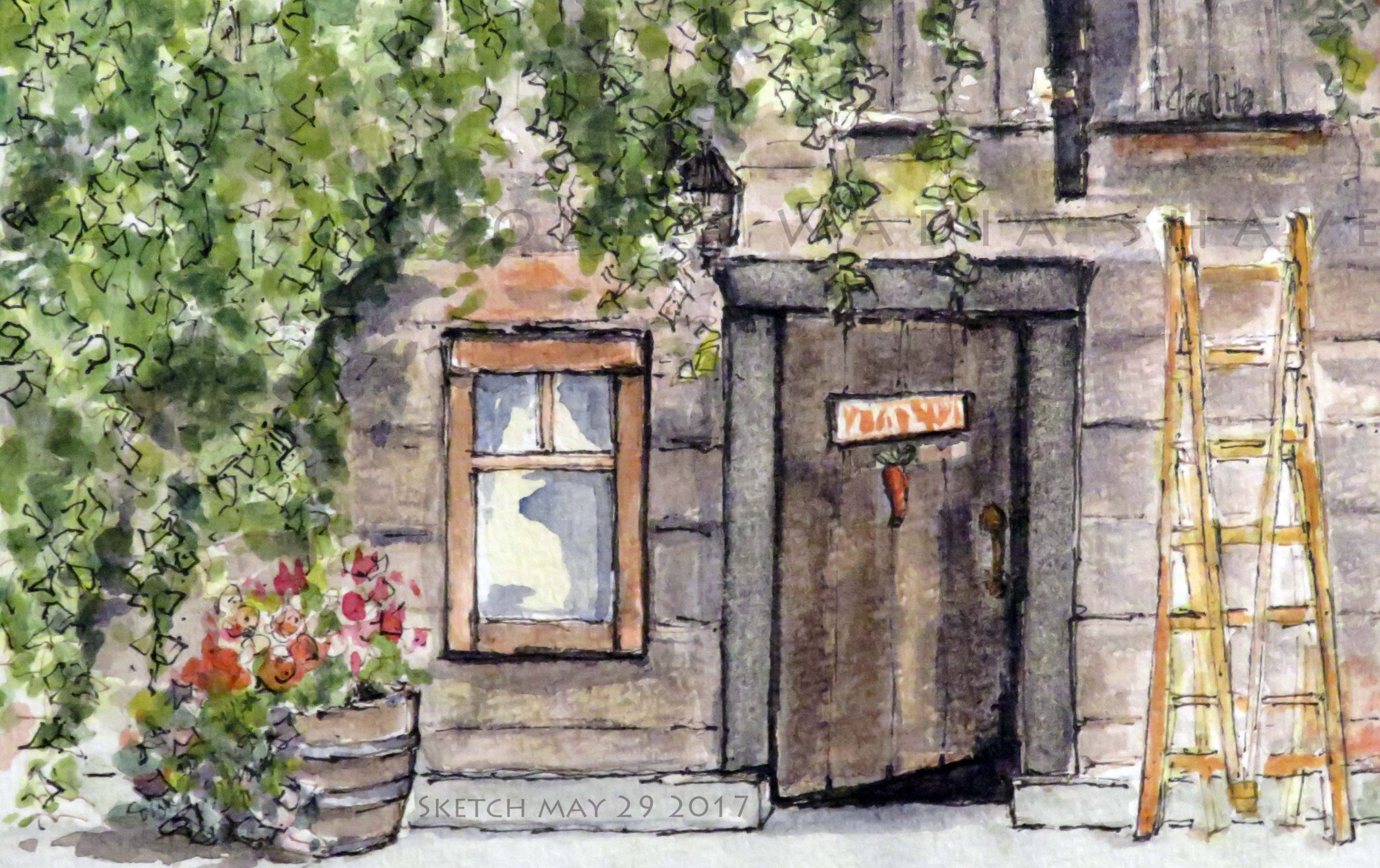 "Starling Lane Winery - 4"" x 6"" Original Watercolour $45"